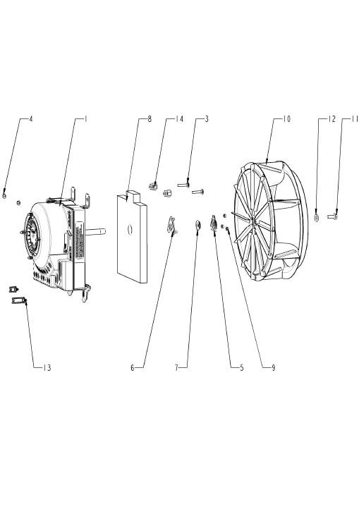 Мотор и крыльчатка вентилятора CMP