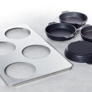 """Форма для жарения и выпекания """"малая набор"""": 4 шт. 16 см. вкл. поднос 60.73.286"""