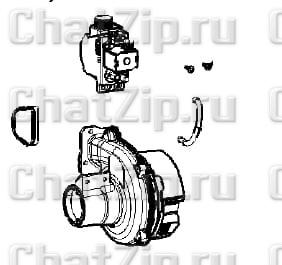Комплект нагнетателя с газовым клапаном LM1 LM2; B D F(G) начиная с 03/2020 70.01.426P