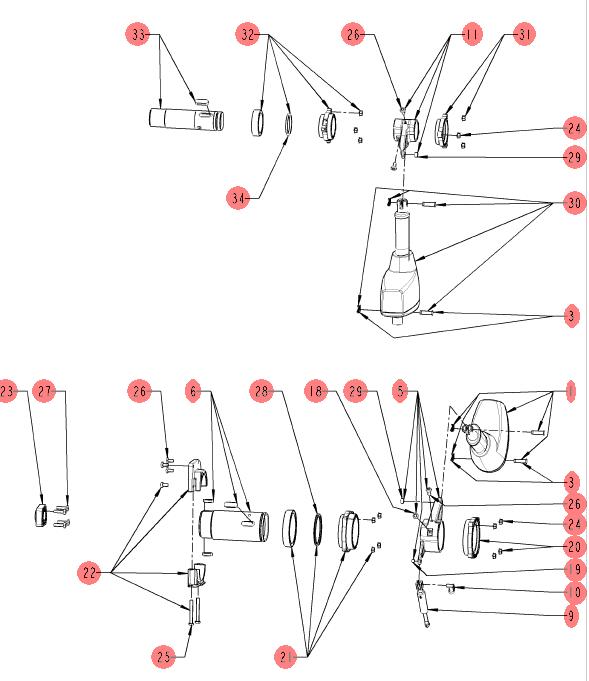 схема электроприводов чаши Vario Pro